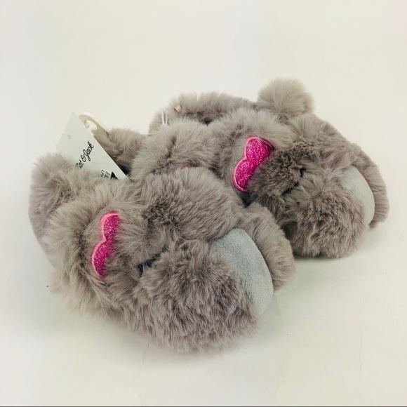bd40a3b71f2f Cat   Jack Toddler Girls  Ava Slippers Koala New